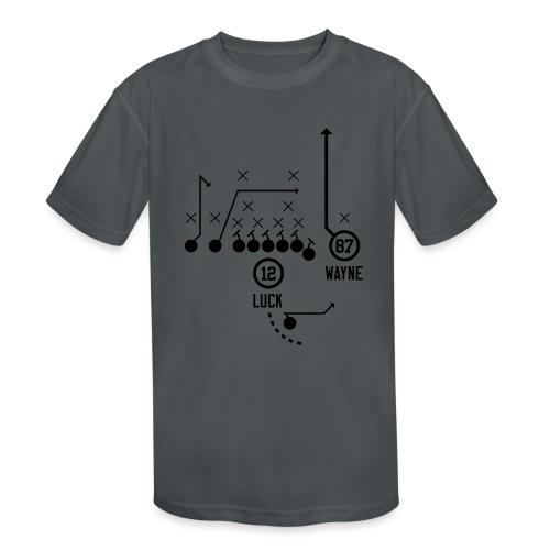 X O Andrew Luck to Reggie Wayne - Kids' Moisture Wicking Performance T-Shirt