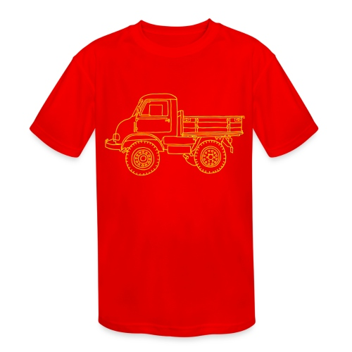 Off-road truck, transporter - Kids' Moisture Wicking Performance T-Shirt