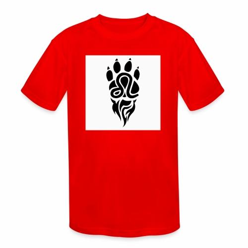 Black Leo Zodiac Sign - Kids' Moisture Wicking Performance T-Shirt
