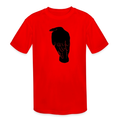 raven crow gothic bird wings dark fly - Kids' Moisture Wicking Performance T-Shirt