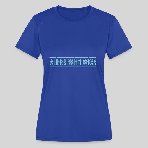 AliensWithWigs-Logo-Bleu - Women's Moisture Wicking Performance T-Shirt