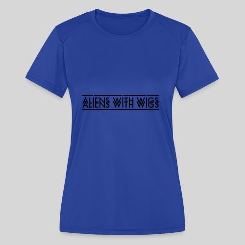 AliensWithWigs-Logo-Noir - Women's Moisture Wicking Performance T-Shirt