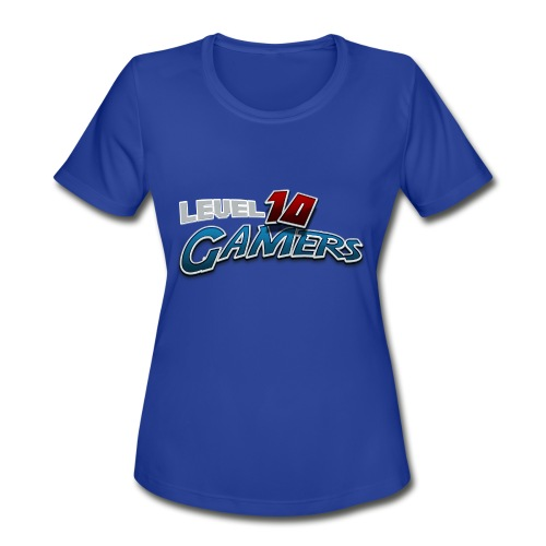 Level10Gamers Logo - Women's Moisture Wicking Performance T-Shirt