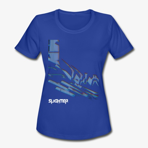 Vertical Glitch - Women's Moisture Wicking Performance T-Shirt