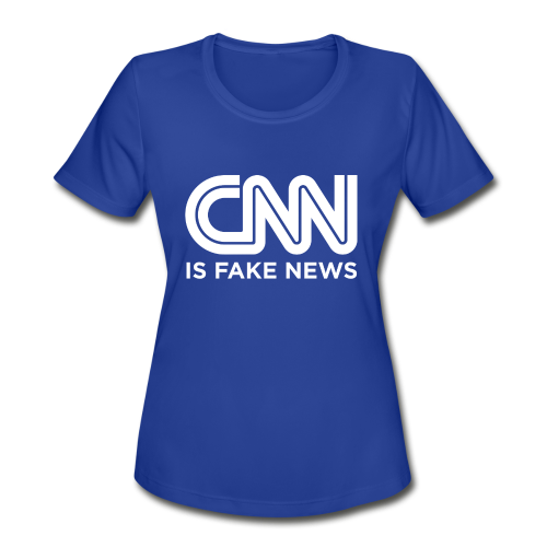 CNN Is Fake News - Women's Moisture Wicking Performance T-Shirt