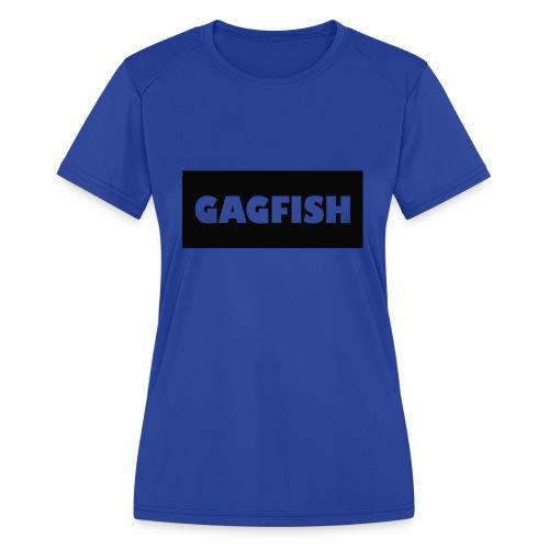 GAGFISH BLACK LOGO - Women's Moisture Wicking Performance T-Shirt
