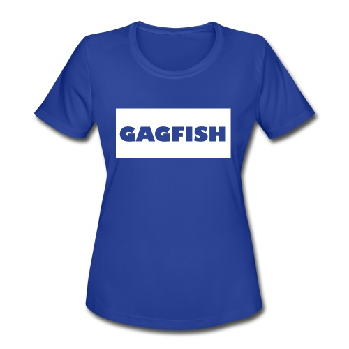 GAGFISH WIGHT LOGO - Women's Moisture Wicking Performance T-Shirt