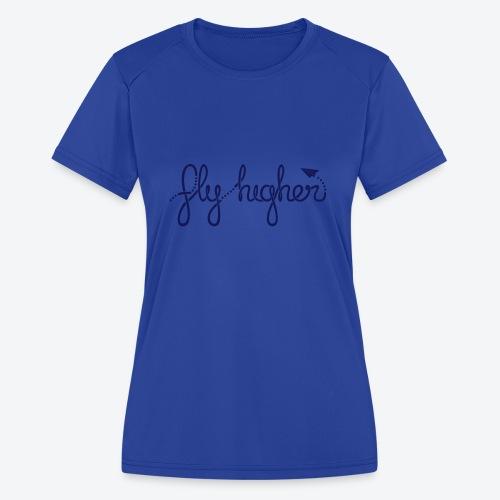 Fly Higher - Navy - Women's Moisture Wicking Performance T-Shirt