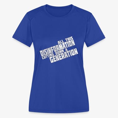 Disinformation - Women's Moisture Wicking Performance T-Shirt