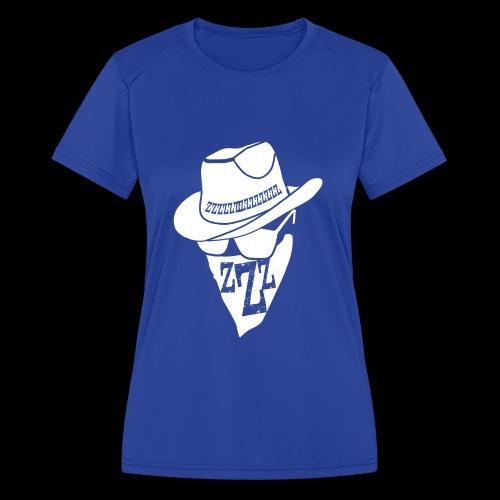 DREAM BANDITS WHITE Large Logo - Women's Moisture Wicking Performance T-Shirt