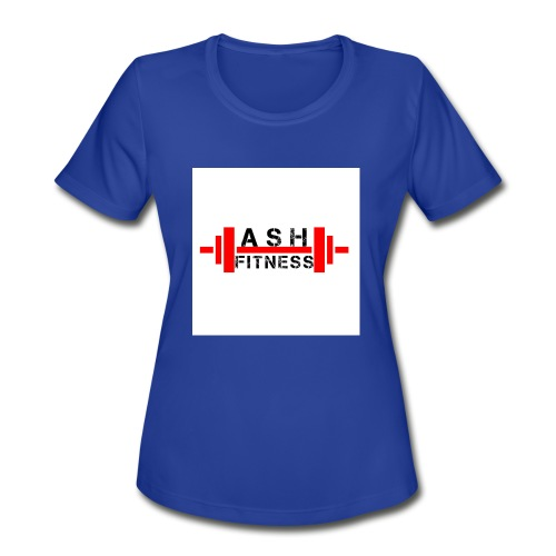 ASH FITNESS MUSCLE ACCESSORIES - Women's Moisture Wicking Performance T-Shirt