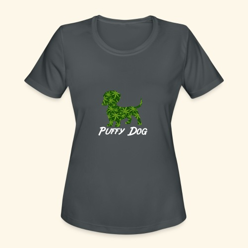 PUFFY DOG - PRESENT FOR SMOKING DOGLOVER - Women's Moisture Wicking Performance T-Shirt