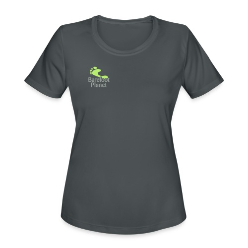 Get Out & Run Barefoot Women's T-Shirts - Women's Moisture Wicking Performance T-Shirt