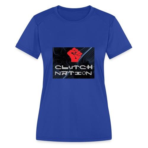 clutchnation logo merch - Women's Moisture Wicking Performance T-Shirt
