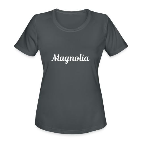 Magnolia Abstract Design. - Women's Moisture Wicking Performance T-Shirt