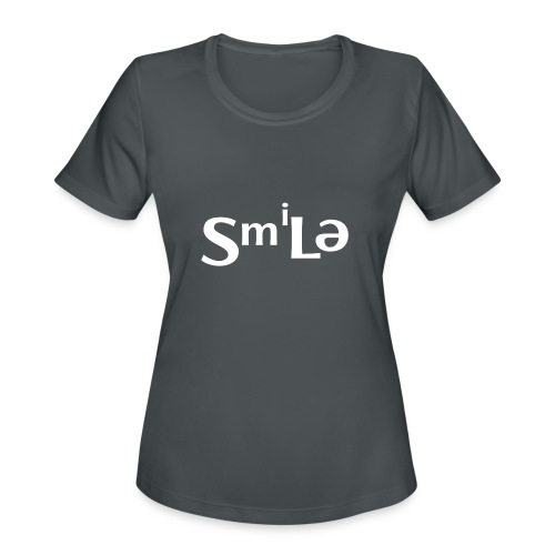 Smile Abstract Design - Women's Moisture Wicking Performance T-Shirt