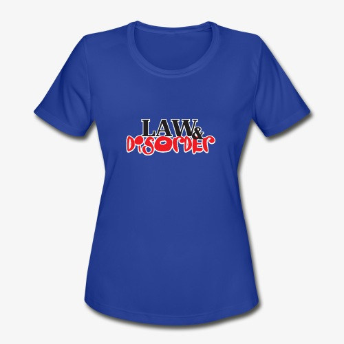 Law DISORDER Logo - Women's Moisture Wicking Performance T-Shirt