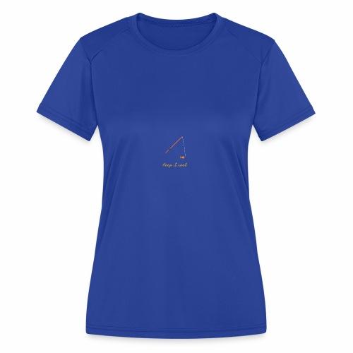 Keep it Reel (Orange) - Women's Moisture Wicking Performance T-Shirt