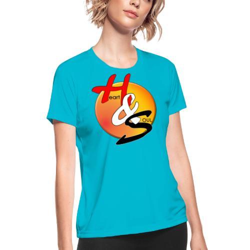 Rcahas logo gold - Women's Moisture Wicking Performance T-Shirt