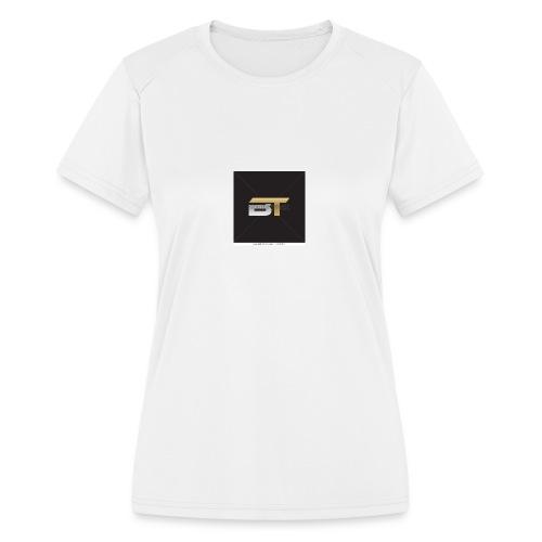 BT logo golden - Women's Moisture Wicking Performance T-Shirt