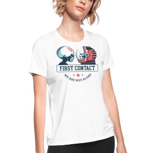 alien astronaut first contact - Women's Moisture Wicking Performance T-Shirt