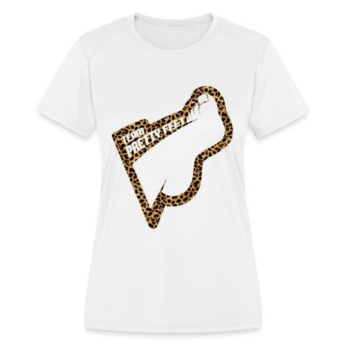 Team Pretty Feet™ Cheetah - Women's Moisture Wicking Performance T-Shirt