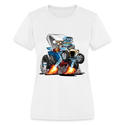 Custom T-bucket Roadster Hotrod Cartoon - Women's Moisture Wicking Performance T-Shirt