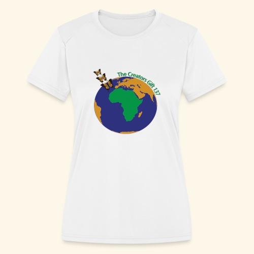 The CG137 logo - Women's Moisture Wicking Performance T-Shirt