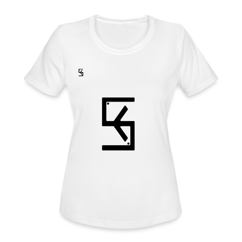 Soft Kore Logo Black - Women's Moisture Wicking Performance T-Shirt