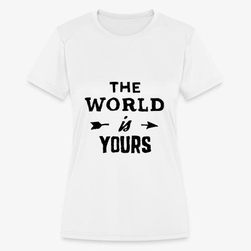the world - Women's Moisture Wicking Performance T-Shirt