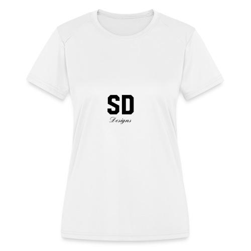 SD Designs blue, white, red/black merch - Women's Moisture Wicking Performance T-Shirt