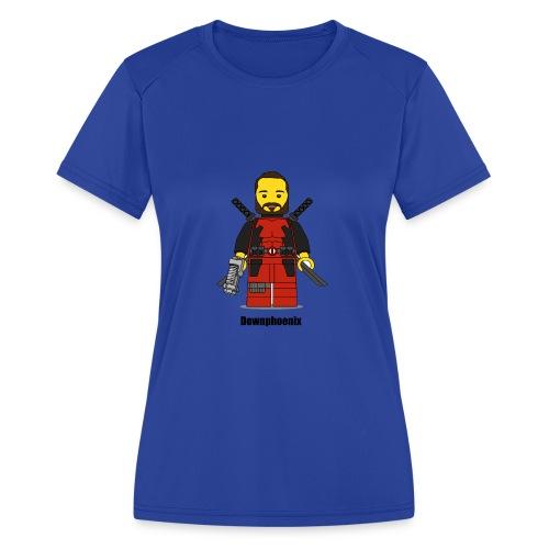 Downphoenix Character Logo - Women's Moisture Wicking Performance T-Shirt