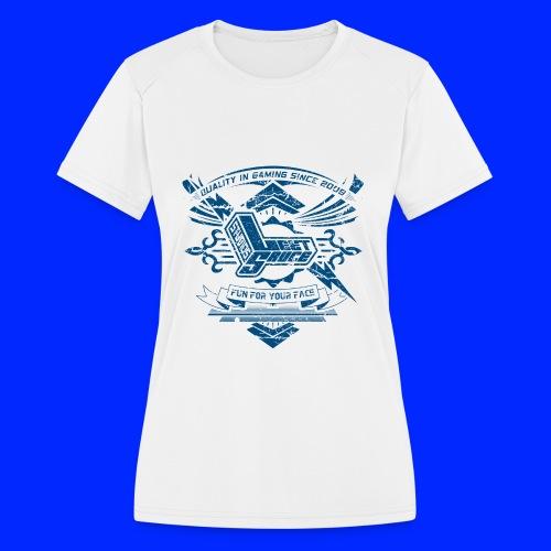 Vintage Leet Sauce Studios Crest Blue - Women's Moisture Wicking Performance T-Shirt
