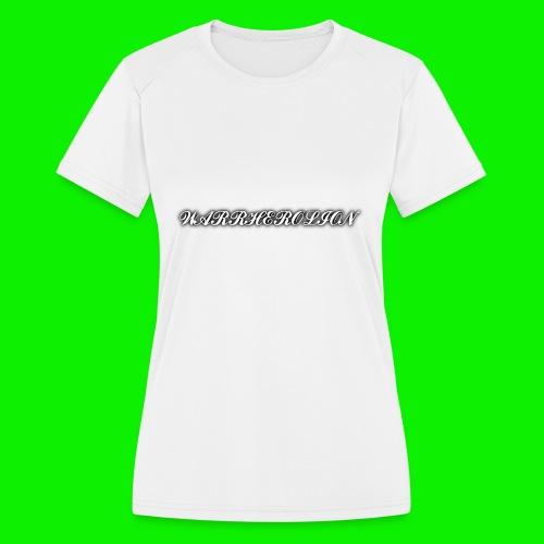 Warherolion plane text-gray - Women's Moisture Wicking Performance T-Shirt