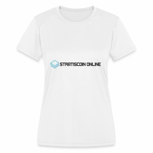 stratiscoin online dark - Women's Moisture Wicking Performance T-Shirt