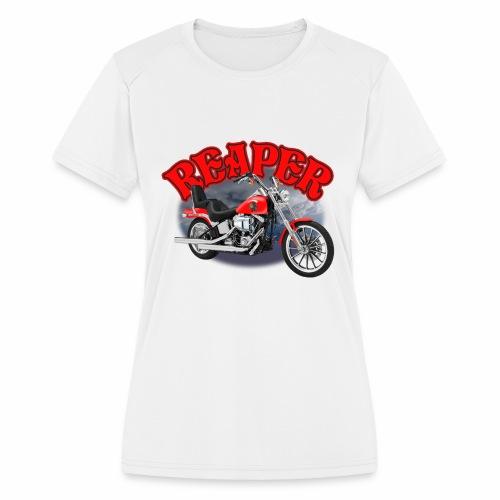 Motorcycle Reaper - Women's Moisture Wicking Performance T-Shirt