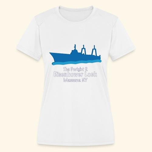 Eisenhower Lock Blue - Women's Moisture Wicking Performance T-Shirt