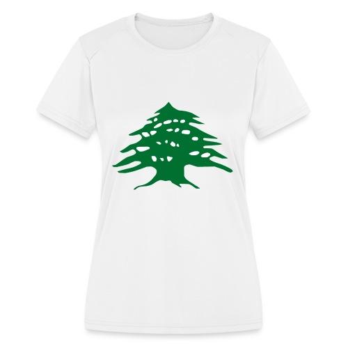 Lebanese Pride Shirt - Women's Moisture Wicking Performance T-Shirt