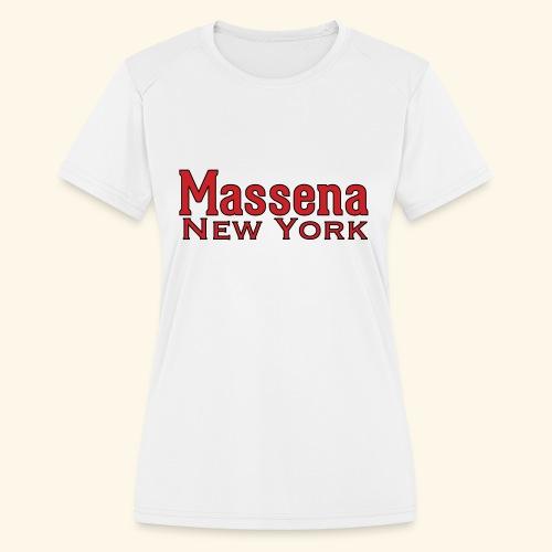 Massena New York - Women's Moisture Wicking Performance T-Shirt