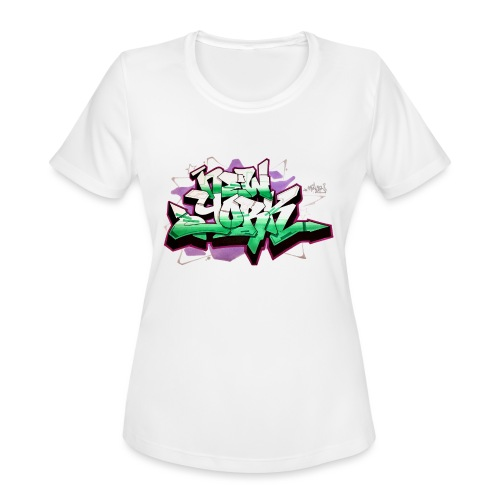 RANGE - Design for New York Graffiti Color Logo - Women's Moisture Wicking Performance T-Shirt