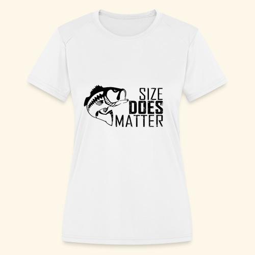 07 size does matter copy - Women's Moisture Wicking Performance T-Shirt