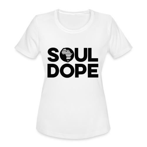 souldope Black Logo - Women's Moisture Wicking Performance T-Shirt