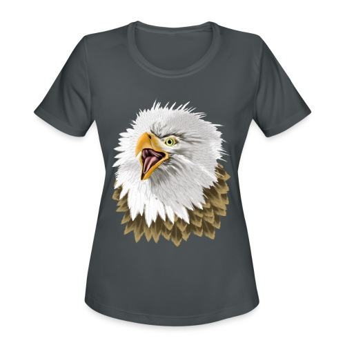 Big, Bold Eagle - Women's Moisture Wicking Performance T-Shirt