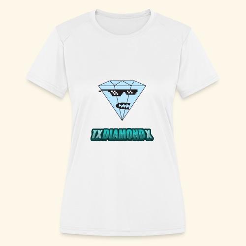 Txdiamondx Diamond Guy Logo - Women's Moisture Wicking Performance T-Shirt