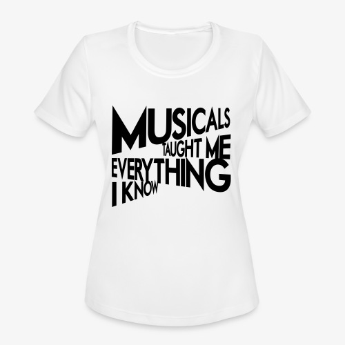 MTMEIK Black Logo - Women's Moisture Wicking Performance T-Shirt
