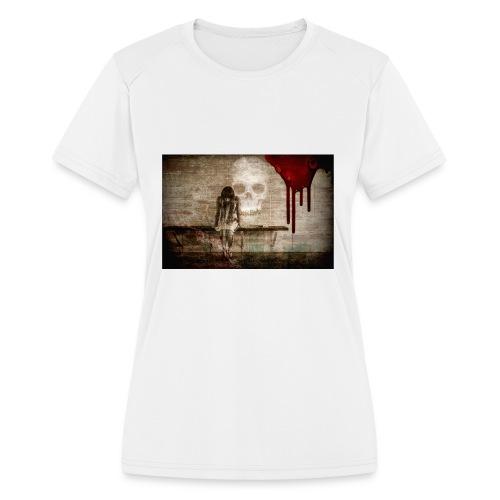 sad girl - Women's Moisture Wicking Performance T-Shirt