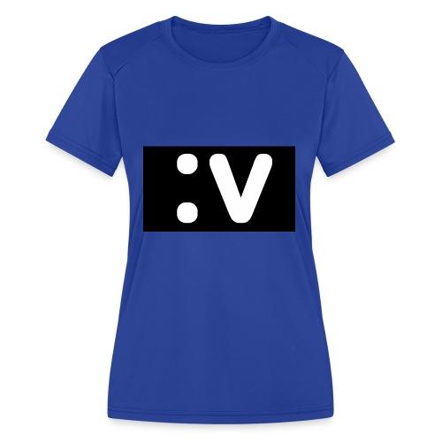 LBV side face Merch - Women's Moisture Wicking Performance T-Shirt