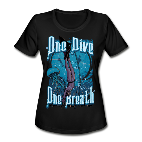 One Dive One Breath Freediving - Women's Moisture Wicking Performance T-Shirt