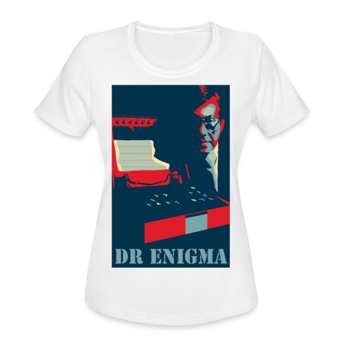 Dr Enigma+Enigma Machine - Women's Moisture Wicking Performance T-Shirt