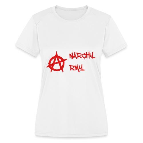 Anarchy Army LOGO - Women's Moisture Wicking Performance T-Shirt